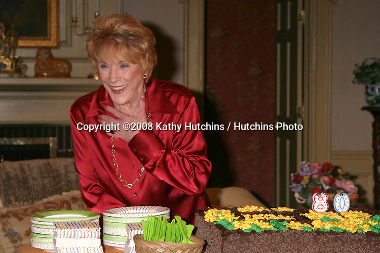 Jeanne Cooper   on the set of THe Young & The Restless  celebrating  Jeanne Cooper's 80th Birthday in Los Angeles, CA on.October 24, 2008.©2008 Kathy Hutchins / Hutchins Photo...                .
