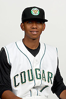 Gerald Hall, Jr. (1) of the Kane County Cougars at Elfstrom Stadium in Geneva, Illinois;  April 5, 2011. Photo By Chris Proctor/Four Seam Images.