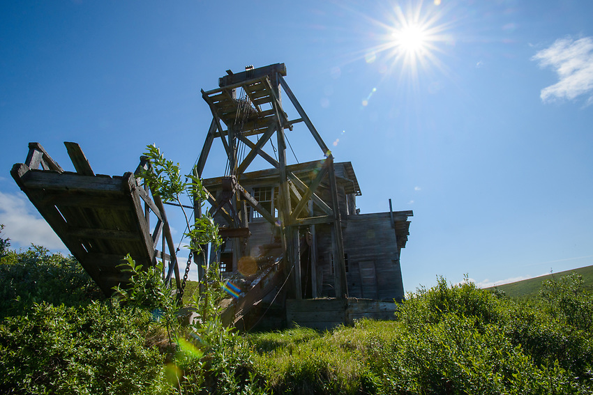 Abandoned gold dredge near Nome, Alaska. Photo by James R. Evans