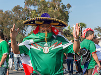 Pasadena, CA - Thursday June 09, 2016: Mexico Fan during a Copa America Centenario Group C match between Mexico (MEX) and Jamaica (JAM) at Rose Bowl Stadium.