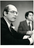 John Trevor Eyton<br /> , President and CEO, BRASCAN, 1982<br /> <br /> PHOTO : Agence Quebec Presse