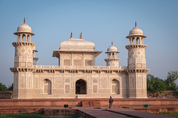 """Even though it's called the """"Baby Taj"""", it was built before the Taj Mahal, and known to be the 1st marble mausoleum on the banks of the river Yamuna in Agra."""