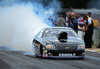 Aug. 19, 2011; Brainerd, MN, USA: NHRA pro stock driver Erica Enders during qualifying for the Lucas Oil Nationals at Brainerd International Raceway. Mandatory Credit: Mark J. Rebilas-