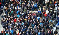 Blackburn Rovers fans watch on<br /> <br /> Photographer Alex Dodd/CameraSport<br /> <br /> The EFL Sky Bet Championship - Preston North End v Blackburn Rovers - Saturday 26th October 2019 - Deepdale Stadium - Preston<br /> <br /> World Copyright © 2019 CameraSport. All rights reserved. 43 Linden Ave. Countesthorpe. Leicester. England. LE8 5PG - Tel: +44 (0) 116 277 4147 - admin@camerasport.com - www.camerasport.com