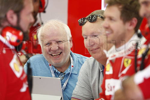 01.04.2016. Bahrain. FIA Formula One World Championship 2016, Grand Prix of Bahrain, Practise day.  Norbert Vettel (GER), father of Sebastian Vettel