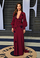 Olivia Munn arrives at the Vanity Fair Oscar Party on Sunday, March 4, 2018, in Beverly Hills, Calif. (Photo by Evan Agostini/Invision/AP)