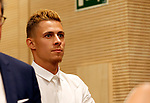 Thorgan Hazard during the presentation of his brother Eden Hazard as new player of Real Madrid at Estadio Santiago Bernabeu on June 13, 2019 in Madrid, Spain. (ALTERPHOTOS/Manu R.B.)
