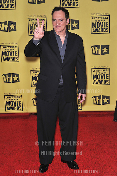 Quentin Tarantino at the 15th Annual Critics' Choice Movie Awards, presented by the Broadcast Film Critics Association, at the Hollywood Palladium..January 15, 2010  Los Angeles, CA.Picture: Paul Smith / Featureflash