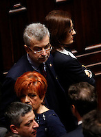 Il deputato Cesare Damiano durante la seduta comune di deputati e senatori per l'elezione del nuovo Presidente della Repubblica, alla Camera dei Deputati, Roma, 30 gennaio 2015.<br /> Italian deputy Cesare Damiano attends a joint plenary session of senators and deputies to vote for the election of the new President, at the Lower Chamber, Rome, 30 January 2015.<br /> UPDATE IMAGES PRESS/Riccardo De Luca