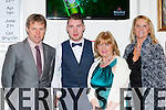 Tim Geaney Brosna, Noel Duggan Kilcummin, Breda Duggan Kilcummin and Jo Clancy Brosna at the East Kerry All Star awards in the Gleneagle Hotel on Friday night