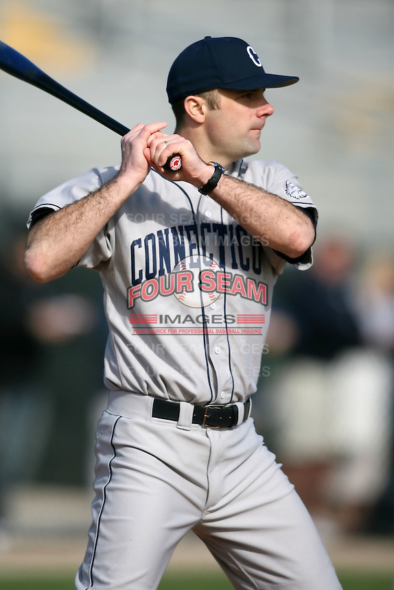 February 20, 2009:  Head Coach Jim Penders of the University of Connecticut during the Big East-Big Ten Challenge at Jack Russell Stadium in Clearwater, FL.  Photo by:  Mike Janes/Four Seam Images