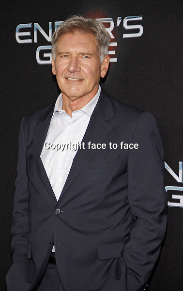 Harrison Ford at the Los Angeles Premiere of &quot;Ender's Game&quot; held at the TCL Chinese Theater in Hollywood on October 28, 2013 in Los Angeles, California.<br /> Credit: PopularImages/face to face
