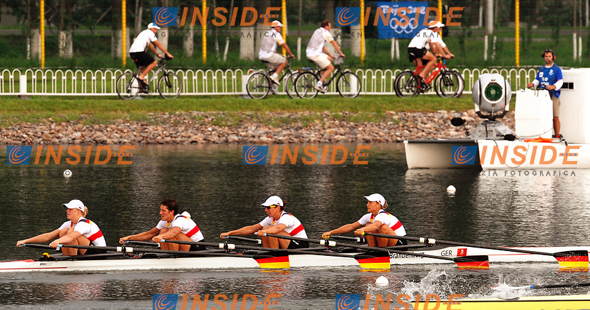Women's Quadruple Sculls Final, Germany Bronze Medal<br /> OPPELT Britta, LUTZE Manuela, BORON Kathrin, SCHILLER Stephanie <br /> Sy Rowing and Canoeing Park<br /> Pechino - Beijing 17/8/2008 Olimpiadi 2008 Olympic Games<br /> Foto Andrea Staccioli Insidefoto