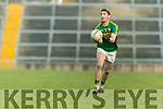 Killian Young Kerry in action against  Limerick in the Final of the McGrath Cup at the Gaelic Grounds on Sunday.