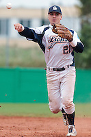 17 October 2010: Yann Dal Zotto of Savigny throws the ball to first base during Rouen 10-5 win over Savigny, during game 2 of the French championship finals, in Savigny sur Orge, France.