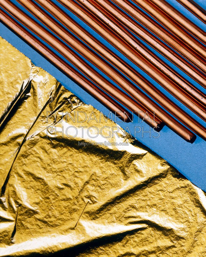 COPPER WIRE &amp; GOLD LEAF<br /> Demonstrates malleability and ductility of metals