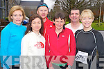 Brid Stack, Seamus Murphy, Siobhan Daly, Humphrey Murphy, Mary O'Connor and Tina Donovan pictured at the Gneeveguilla 5k winter series run on Killarney on Saturday morning.......
