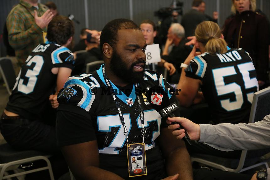 OT Michael Oher (Panthers) - Super Bowl 50 Carolina Panthers PK, Convention Center San Jose
