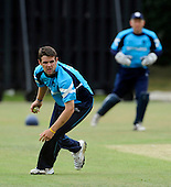 Scotland V India A - One Day friendly - at Citylets Titwood, Glasgow - Scotland opening bowler Gordon Goudie ended his spell with figures of 8 overs, 4 wickets for 46 runs - Picture by Donald MacLeod 23.06.10 - mobile 07702 319 738 - clanmacleod@btinternet.com