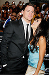 "HOLLYWOOD, CA. - August 06: Channing Tatum and wife Jenna Dewan arrives at a special screening of ""G.I. Joe: The Rise Of The Cobra"" on August 6, 2009 in Hollywood, California."