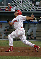 July 16, 2003:  Shortstop Omar Bramasco of the Batavia Muckdogs, Class-A affiliate of the Philadelphia Phillies, during a NY-Penn League game at Dwyer Stadium in Batavia, NY.  Photo by:  Mike Janes/Four Seam Images