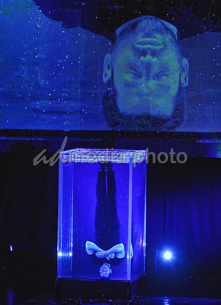 05 July 2017 - Hamilton, Ontario, Canada.  Magician, illusionist and endurance artist David Blaine performs live at FirstOntario Concert Hall. Photo Credit: Brent Perniac/AdMedia