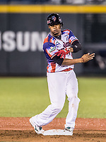 Abiatal Avelino de Dominicana festeja doblete.  <br /> <br /> .<br /> Partido de beisbol de la Serie del Caribe con el encuentro entre los Alazanes de Gamma de Cuba contra las &Aacute;guilas Cibae&ntilde;as de Republica Dominicana en estadio Panamericano en Guadalajara, M&eacute;xico, Lunes 5 feb 2018. <br /> (Foto: Luis Gutierrez)<br /> <br /> .<br /> Baseball game of the Caribbean Series with the match between the Gamma Alazanes of Cuba against the Cibae&ntilde;as Eagles of the Dominican Republic at the Pan American Stadium in Guadalajara, Mexico, Monday, Feb. 5, 2018.<br /> (Photo: Luis Gutierrez)