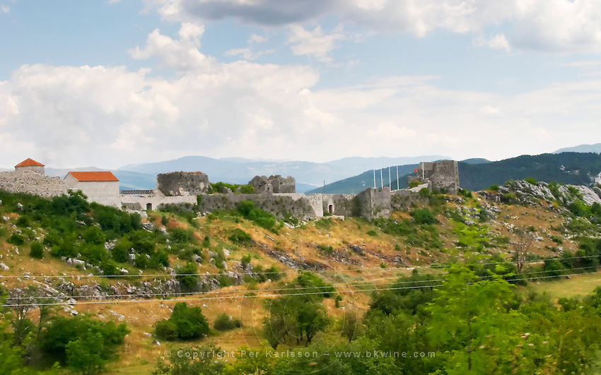 A hilltop fort fortress near the city of Niksic. Montenegro, Balkan, Europe.