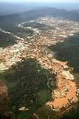 Para State, Brazil. Area of rainforest devastated by an illegal gold mine established by garimpeiros.