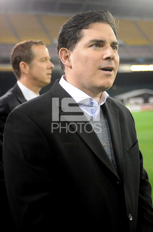 Washington D.C. - March 8, 2014: D.C. Untied Managing Partner Jason M. Levien.   The Columbus Crew defeated D.C. United 3-0 during the opening game of the 2014 season at RFK Stadium.