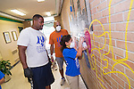 Students at Montgomery ES work on their mural.