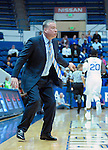 January 11, 2017:  Air Force head coach, Dave Pilipovich, during the NCAA basketball game between the Fresno State Bulldogs and the Air Force Academy Falcons, Clune Arena, U.S. Air Force Academy, Colorado Springs, Colorado.  Air Force defeats Fresno State 81-72.