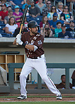 "A.J. Pollock bats during the Reno Aces ""Star Wars Night"" game at Greater Nevada Field in Reno on Saturday, June 17, 2017."