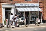 Upmarket shop in the fashionable  village of Burnham Market on the north Norfolk coast, England
