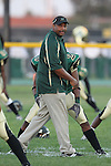 Harbor City, CA 09/24/10 - A Narbonne coach prior to the game against Mira Costa.
