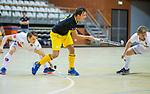 Almere - Zaalhockey  Amsterdam-Den Bosch (m)  Gijs Campbell (Den Bosch)  . TopsportCentrum Almere.    COPYRIGHT KOEN SUYK