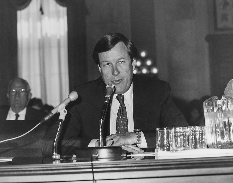 Rep. Bill Thomas, R-Calif., in a conference. (Photo by CQ Roll Call via Getty Images)