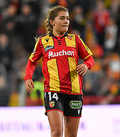 20191102 - LENS , FRANCE : Arras' Courtney Strode pictured during the female soccer match between Arras Feminin and Lille OSC feminin, on the 8th matchday in the French Women's Ligue 2 – D2 at the Stade Bollaert Delelis stadium , Lens . Saturday 2 November 2019 PHOTO DAVID CATRY | SPORTPIX.BE