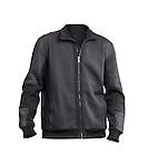 Fashionable dark gray mens jacket sweater isolated on white background