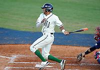 Florida International University infielder Julius Gaines (2) plays against Florida Atlantic University. FAU won the game 9-5 on March 17, 2012 at Miami, Florida.