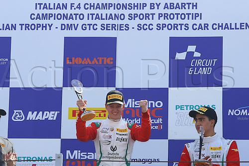 09.04.2016. Adria, Italy, Arbath F4 Grand Prix of Italy.  MICK SCHUMACHER (DEU) Prema Powerteam Arbath, F4 Italy savours his victory
