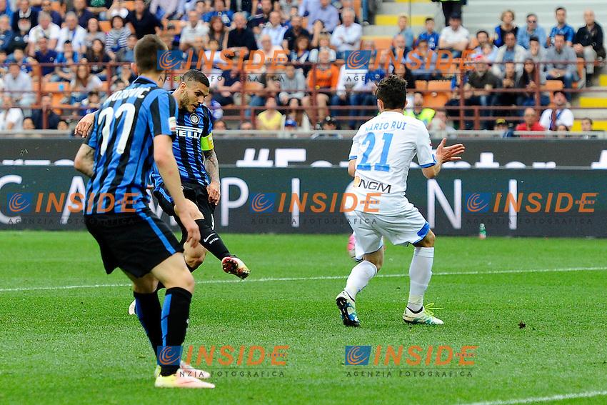 Gol di Mauro Icardi Inter 1-0. Celebration goal<br /> Milano 7-05-2016 Stadio Giuseppe Meazza - Football Calcio Serie A Inter - Empoli. Foto Giuseppe Celeste / Insidefoto