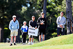 Spectators during the New Zealand Amateur Golf Championship final at Russley Golf Course, Christchurch, New Zealand. Sunday 5 November 2017. Photo: Simon Watts/www.bwmedia.co.nz
