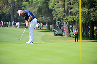 Lee Westwood (GBR) watches his putt on 2 during round 4 of the World Golf Championships, Mexico, Club De Golf Chapultepec, Mexico City, Mexico. 3/5/2017.<br /> Picture: Golffile | Ken Murray<br /> <br /> <br /> All photo usage must carry mandatory copyright credit (&copy; Golffile | Ken Murray)