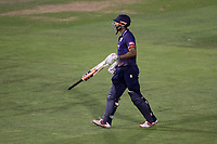 Varun Chopra of Essex leaves the field having been dismissed for 54 during Glamorgan vs Essex Eagles, Vitality Blast T20 Cricket at the Sophia Gardens Cardiff on 7th August 2018