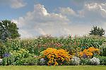 Vegetable and flower garden.