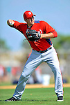 24 February 2012: Washington Nationals' pitcher Craig Stammen warms up at the Carl Barger Baseball Complex in Viera, Florida. Mandatory Credit: Ed Wolfstein Photo
