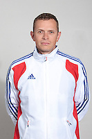23 july 2010: Fabien Proust poses prior to the 2010 European Championship Seniors, in Mulhouse, France.