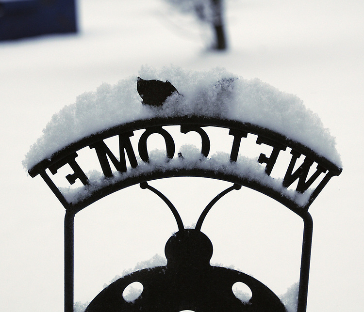 Snow seen from our porch in Saugerties, NY, on Monday, December 25, 2017. Photo by Jim Peppler. Copyright/Jim Peppler/2017.