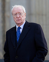 Sir Michael Caine arrives for the memorial service for Vidal sassoon